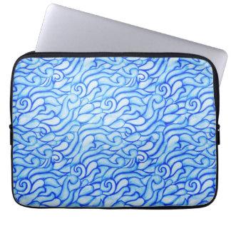 Blue Ocean Waves Neoprene Laptop Sleeve