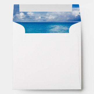 Blue Ocean | Wedding Envelope for 5.25 Invitation