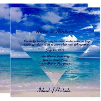 Blue Ocean | Wedding Invitation Semi-Gloss