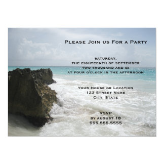 Blue Ocean with Foamy Waves Seascape Generic Party Card