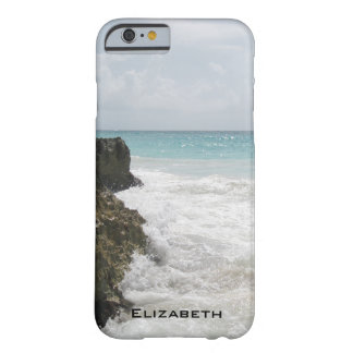 Blue Ocean with Foamy Waves Seascape Personalized Barely There iPhone 6 Case