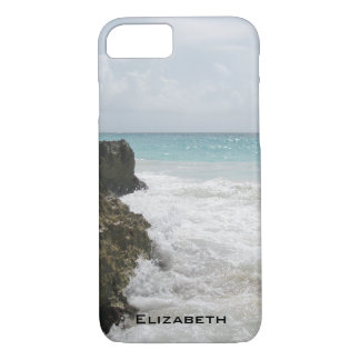 Blue Ocean with Foamy Waves Seascape Personalized iPhone 8/7 Case