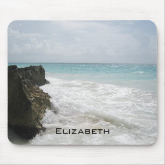 Blue Ocean with Foamy Waves Seascape Personalized Mouse Pad