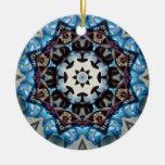 Blue Octagon Christmas Tree Ornaments