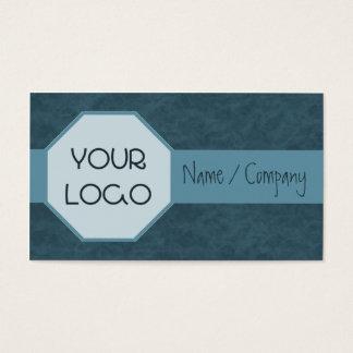 Blue Octagonal Logo Business Card
