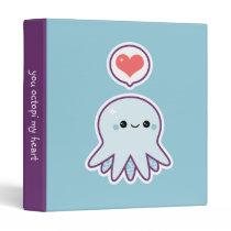 Blue Octopus 3 Ring Binder