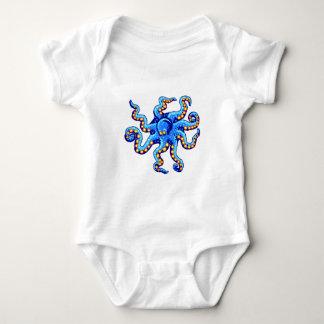 Blue Octopus Baby Bodysuit