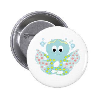 Blue Octopus Pins