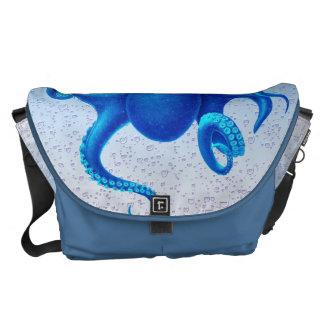 Blue Octopus Courier Bag