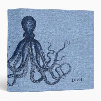 Blue Octopus Custom Binder
