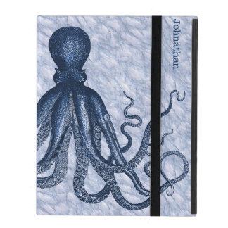 Blue Octopus Custom iPad 2/3/4 Case iPad Cover