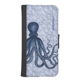 Blue Octopus iPhone 5S Wallet Case