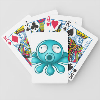Blue Octopus Japanese Logo Bicycle Playing Cards