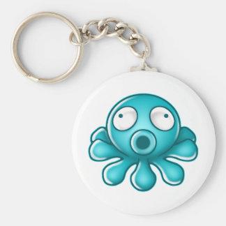 Blue Octopus Japanese Logo Keychain