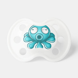 Blue Octopus Japanese Logo Pacifier
