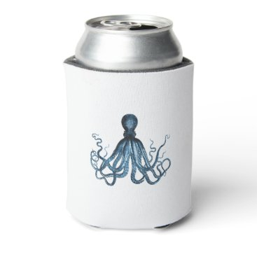 Beach Themed Blue octopus nautical coastal ocean gifts can cooler