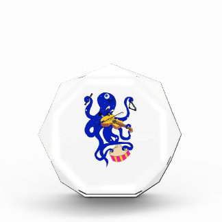 blue octopus playing multiple percussion.png acrylic award