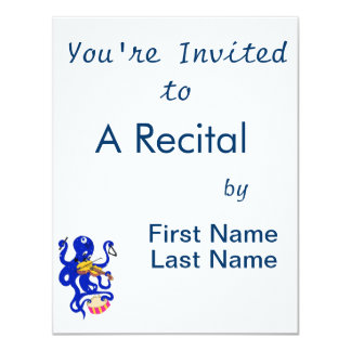 blue octopus playing multiple percussion.png 4.25x5.5 paper invitation card