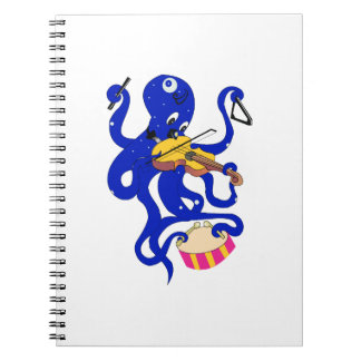 blue octopus playing multiple percussion.png spiral notebook