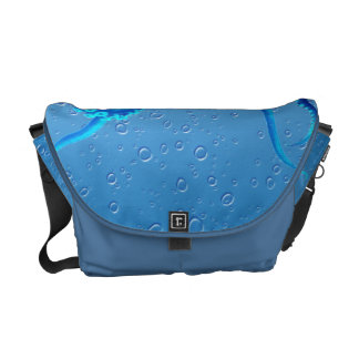 Blue Octopus Pop Messenger Bag