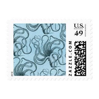 Blue Octopus Postage