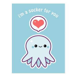 Blue Octopus Postcard