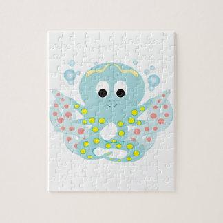 Blue Octopus Jigsaw Puzzles