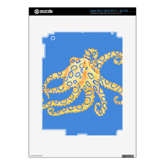 Blue Octopus Stained Glass iPad 3 Decals