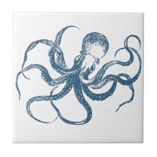 blue octopus tile