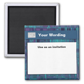Blue Odyssey - customizable template 2 Inch Square Magnet