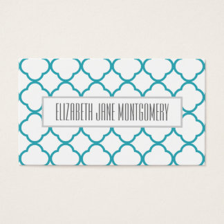 Blue Ogee Modern Appointment Business Card