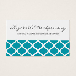 Blue Ogee Professional Appointment Business Card