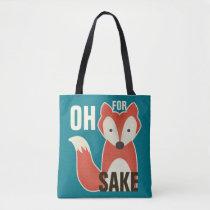 Blue Oh For Fox Sake Tote Bag