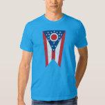 Blue Ohio State Flag Vintage Grunge Columbus Love T-shirt