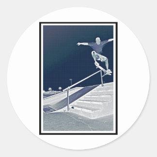 Blue Ollie Skate Classic Round Sticker