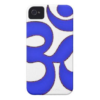 BLUE om,aum,sanskrit, mantra, yoga, tantra iPhone 4 Cover