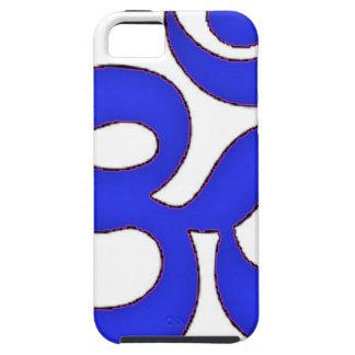 BLUE om,aum,sanskrit, mantra, yoga, tantra iPhone SE/5/5s Case