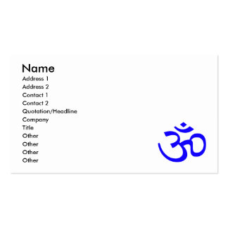 Blue Om or Aum ॐ.png Business Card