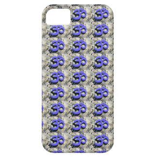 blue Om pattern case