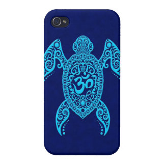 Blue Om Sea Turtle iPhone 4 Cover