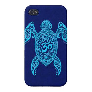 Blue Om Sea Turtle iPhone 4/4S Case