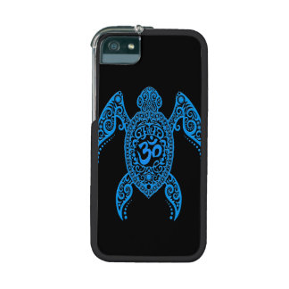 Blue Om Sea Turtle on Black Case For iPhone 5