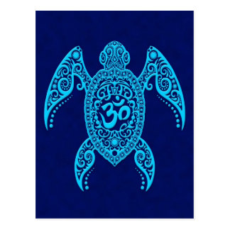 Blue Om Sea Turtle Postcard