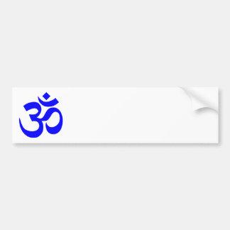 Blue Om Symbol Car Bumper Sticker