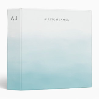 Blue Ombre 3 Ring Binder
