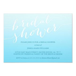 Blue Ombre Bridal Shower Card