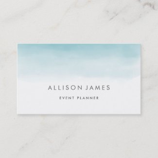 Blue Ombre Business Card