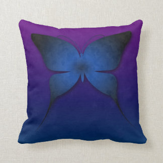 Blue Ombre Butterfly Pillow
