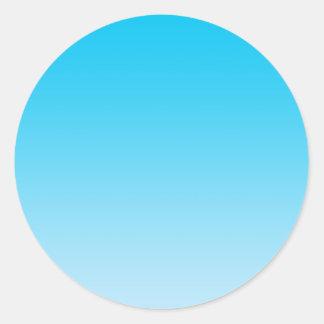 Blue Ombre Classic Round Sticker