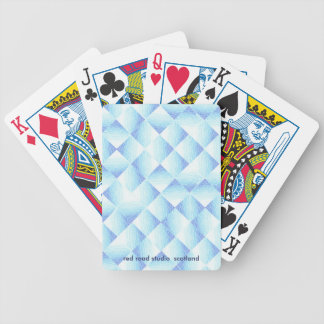 Blue Ombre Diamonds Bicycle Playing Cards